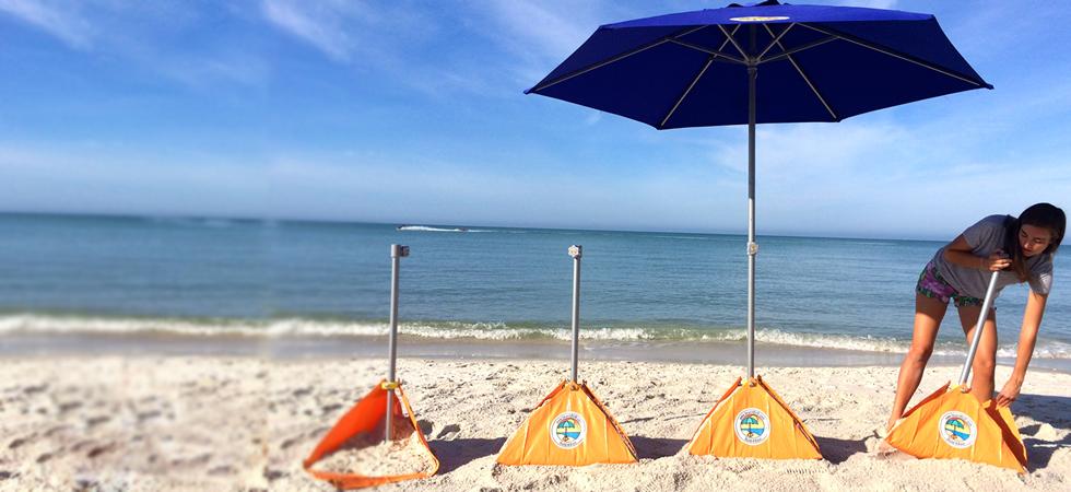 Build A Base From Beachbub Make Any Patio Umbrella A